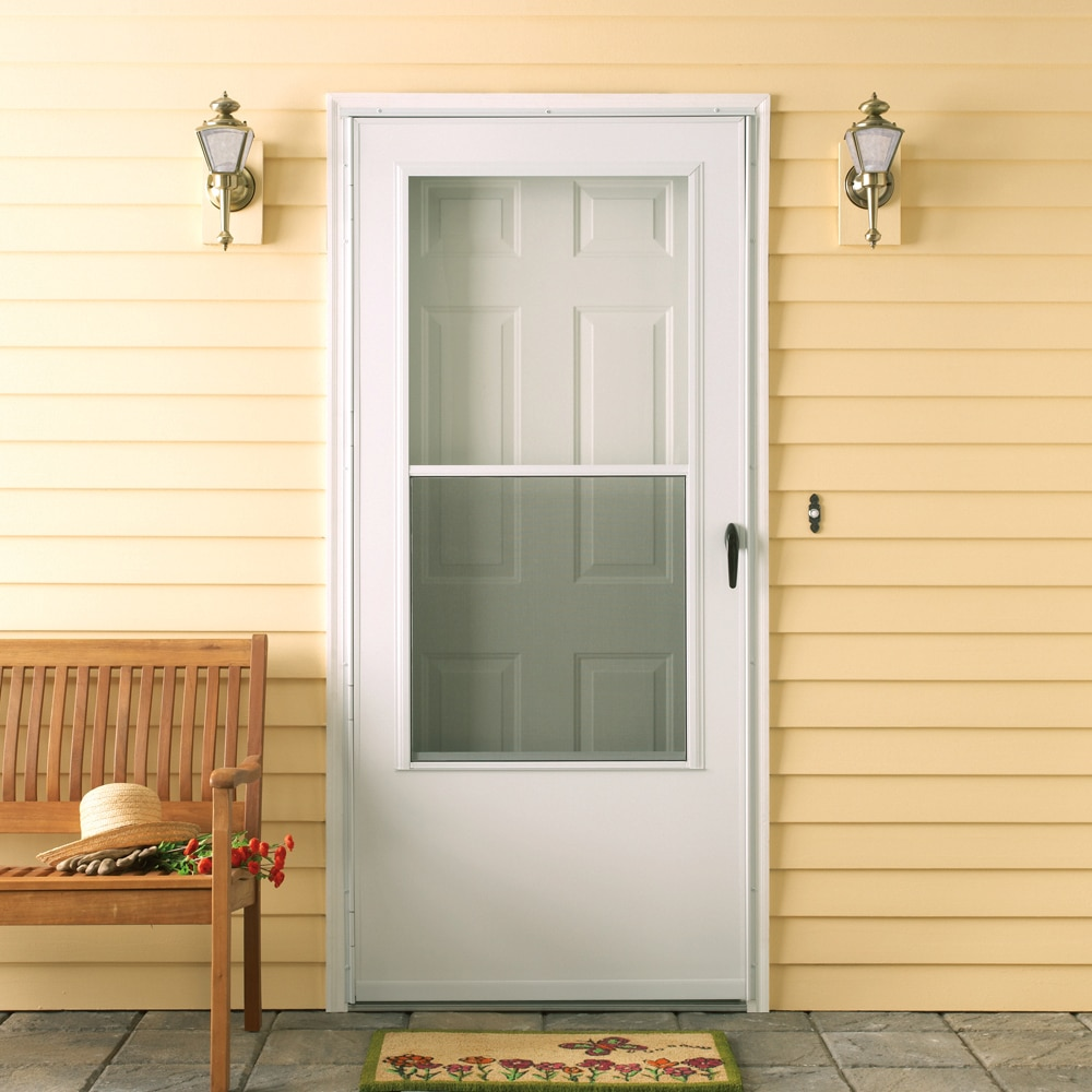 Emco 100 Series 3 4 View Self Storing Storm Door The