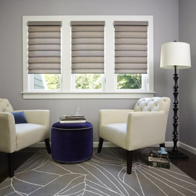 Myblinds smart roman shades the home depot for Smart window shades