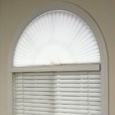 Bali Pleated Arch Shade The Home Depot