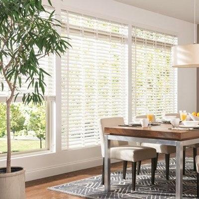 bali 2 1 2 in double beveled composite faux wood blind the home depot. Black Bedroom Furniture Sets. Home Design Ideas
