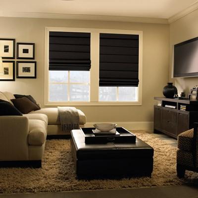 levolor roman shade the home depot. Black Bedroom Furniture Sets. Home Design Ideas
