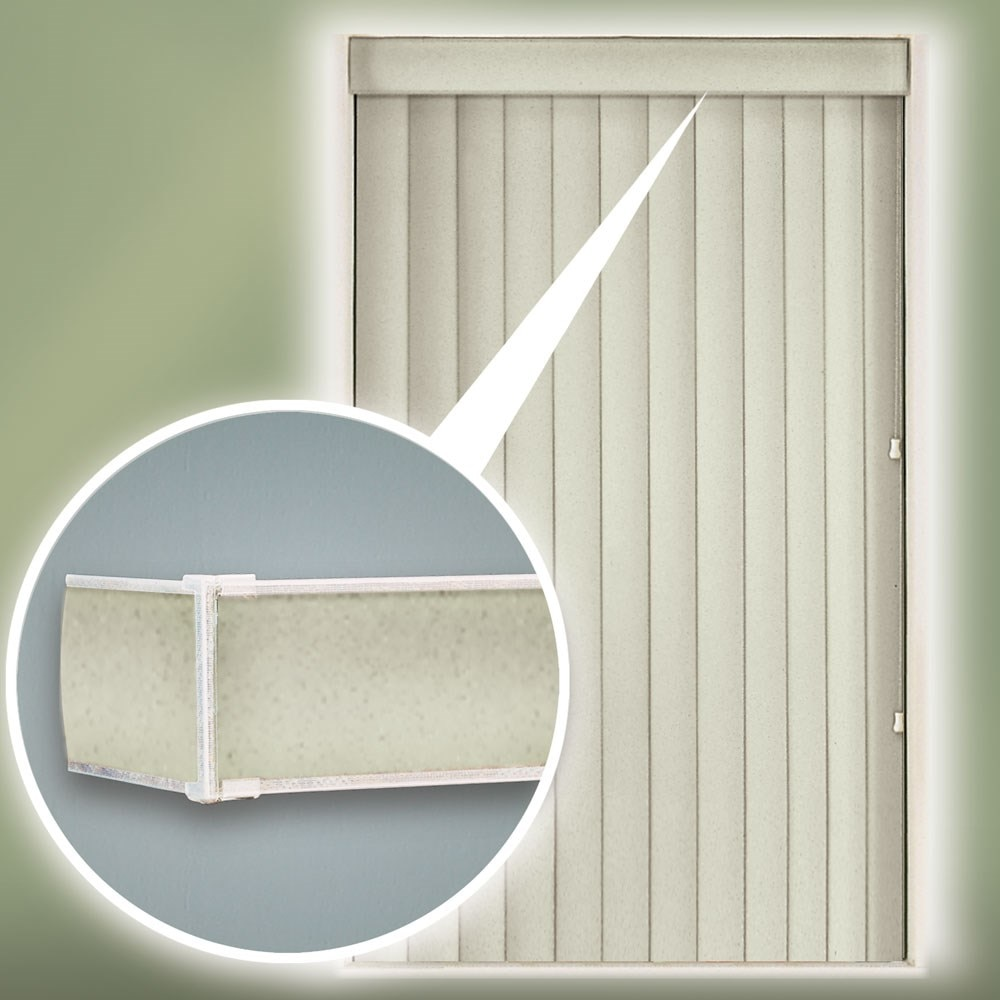 Curved Vinyl Vertical Blinds Thehomedepot