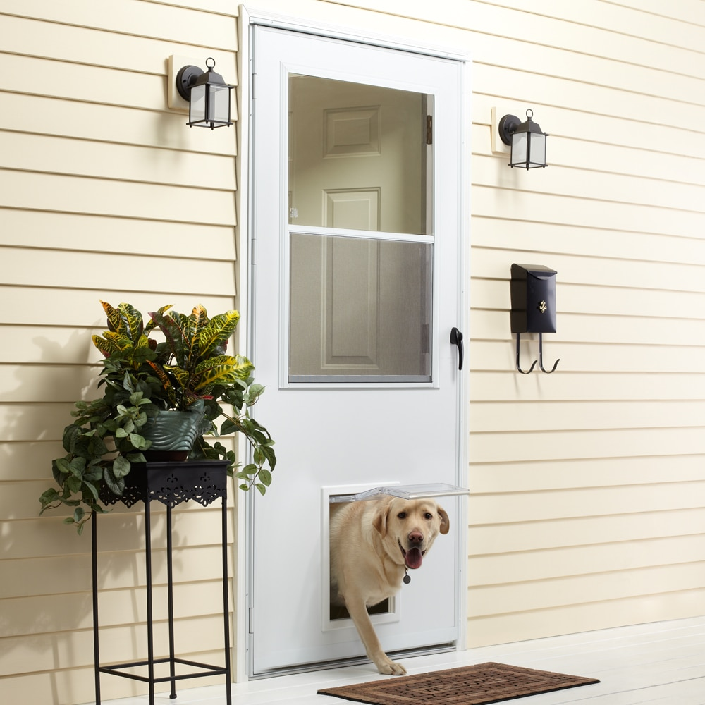 Emco K900 Series View Self Storing Storm Door With Pet
