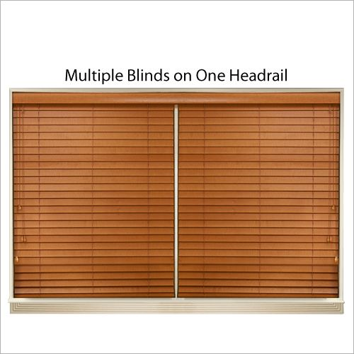 1 in Faux Wood Blind TheHomeDepot