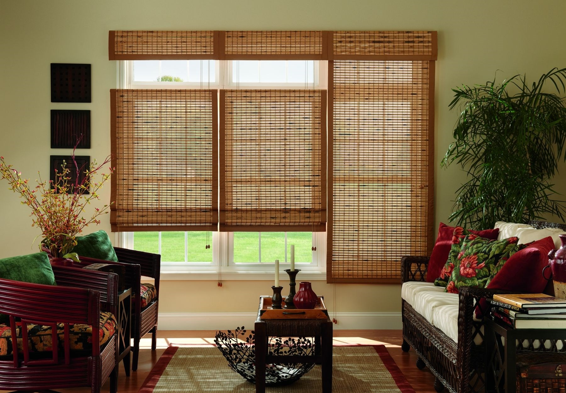 White Bamboo Shades Natural Shades Shades The Home Depot