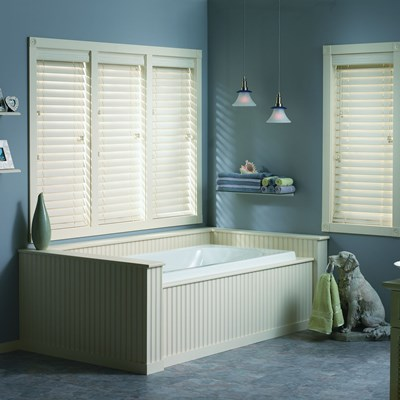 hampton bay classic 2 in faux wood blinds the home depot. Black Bedroom Furniture Sets. Home Design Ideas