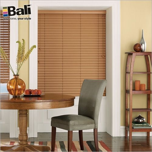 Essentials 2 in Faux Wood Blind TheHomeDepot