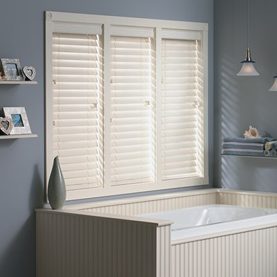 2 In Composite Faux Wood Blind Thehomedepot