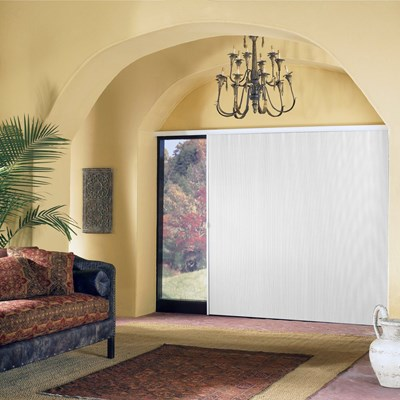 vertical honeycomb blinds vinyl blackout vertical cellular shade diamondcell thehomedepot