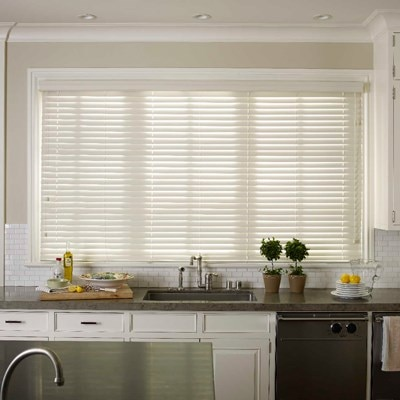 Faux wood blind 2 1 2 in thehomedepot for 2 inch faux wood window blinds