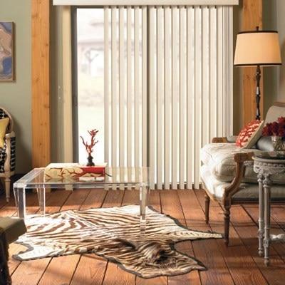 curved vinyl vertical blind thehomedepot. Black Bedroom Furniture Sets. Home Design Ideas