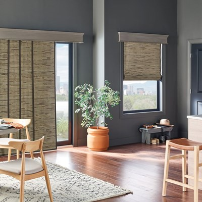 Woven Wood Sliding Panel Thehomedepot