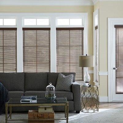 1 in faux wood blind thehomedepot. Black Bedroom Furniture Sets. Home Design Ideas