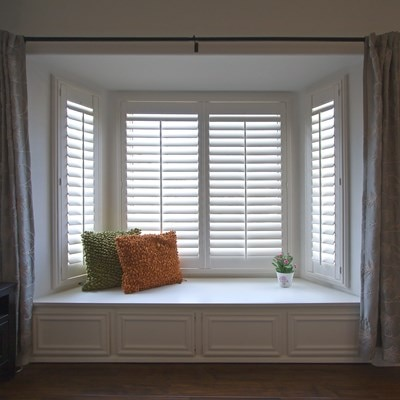 Diy composite wood shutter thehomedepot - Home depot window shutters interiors ...