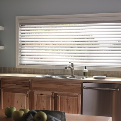 2 Faux Wood Blinds TheHomeDepot