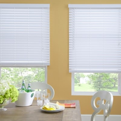 2in faux wood blind thehomedepot Home decorators collection faux wood blinds installation