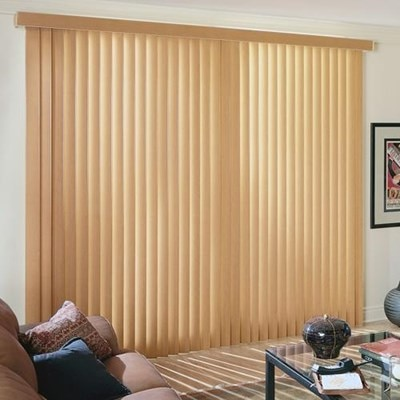 Fauxwood Vertical Blind Thehomedepot